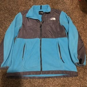 Blue & Grey The North Face Jacket Size M